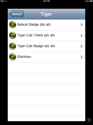 Screen shot of BragVest app