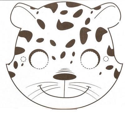 Como hacer una mascara de animal salvaje - Imagui