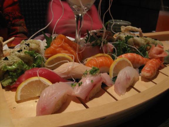Sushi / sashimi boat at Samurai, Amherst NY