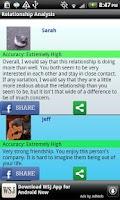 Screenshot of Relationship Analysis