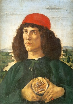 Portrait of a Man Holding a Medal of Cosimo de Medici