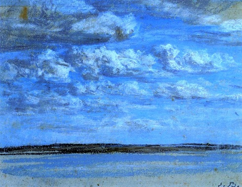Boudin, Eugène - White Clouds, Blue Sky