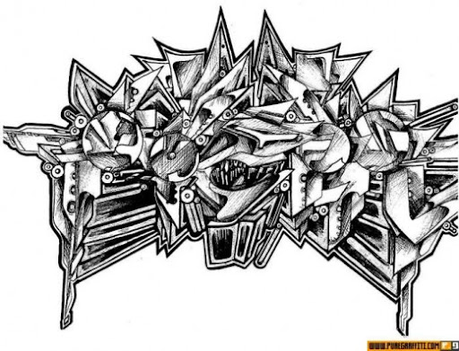 graffiti lettering alphabet. Alphabet in Graffiti Letters
