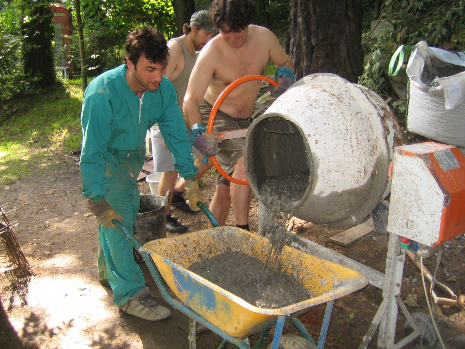 Proyecto mesa merendero hormigon de limpieza y mallazo for Mezcla de hormigon