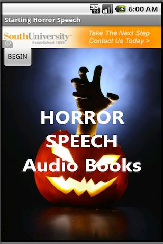Horror Speech Audio Books