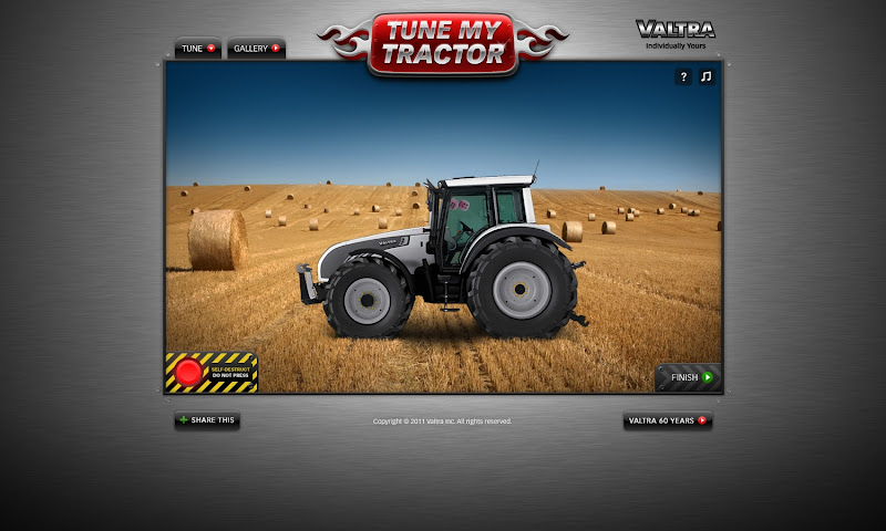 Valtra's Tune My Tractor Game