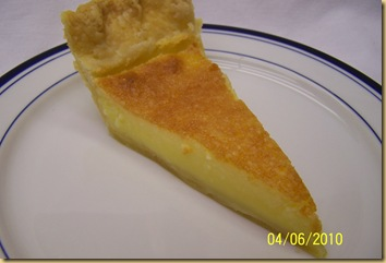 Buttermilk Pie Slice