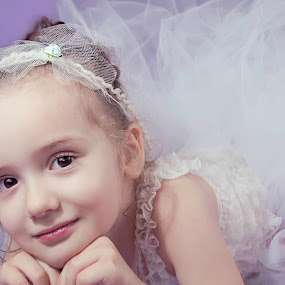 Beauty by Jenny Hammer - Babies & Children Child Portraits ( child, lace, girl, tutu, beauty,  )