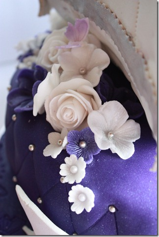 blomster på kake