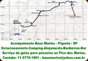 mapa da trilha