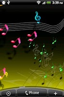 Screenshot of Live Musical Note Free Wall