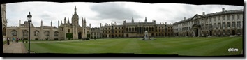 Panoramic picture at the King's College