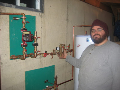 Sean with the PMP (Plumbing Mechanical Package).