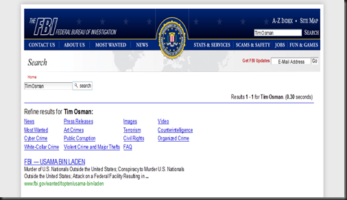 FBI-Tim Osman=Osama Bin Laden