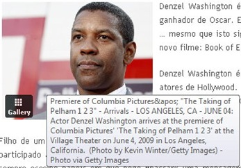 Denzel Washington - detalhe de foto postada do PicApp