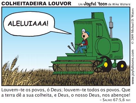 Joyful 'toon_Praise harvester