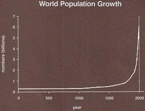 Crescimento da População Mundial  [www.adbusters.org/magazine]
