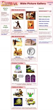 screenshot do www.BiblePictureGallery.com