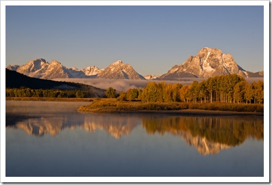 Oxbow Bend, First Light on the Bend, Mt. Moran dominating the scene