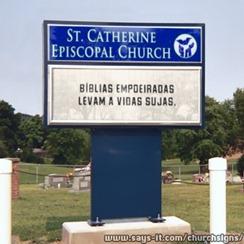 Placa de igreja