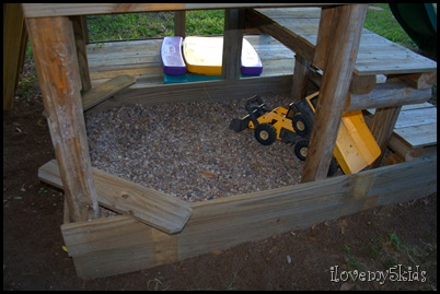 Kid's Fort Sandbox or Rock Pit
