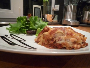Lasagnes sur assiette