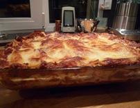 Lasagnes à la sortie du four 1