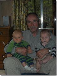 Grandsons with Grandpa Garff
