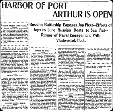 Harbor of Port Arthur Open 14 Jun 1904