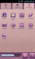 Screenshot of Pink Dream Theme - GO Launcher