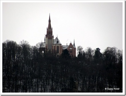 Beautiful churches and castles adorn the Rhine Valley.
