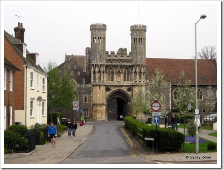 The grounds of Kings College Canterbury.