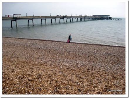 Deal's pier and pebble beach. No sand here I'm afraid.