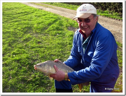 Second Mirror carp caught at Stone Crouch cottage.