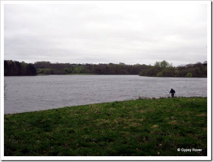 Fly fisherman on Bewl Reservoir.