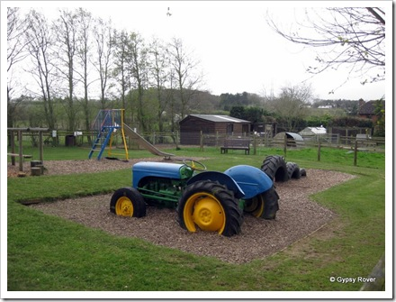Kiddies play area at Sharnfold farm.