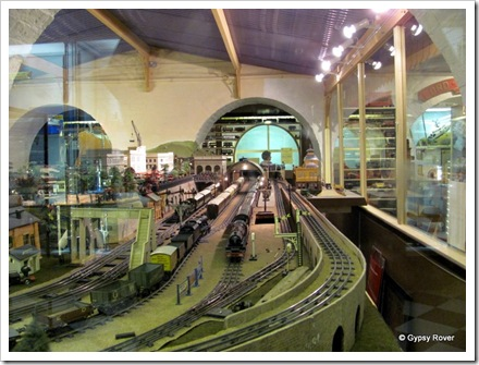 "Brighton's Toy and Model Museum. ""0"" gauge layout operated by the local model railway club."