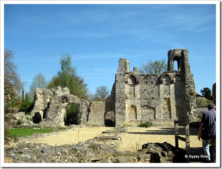 Wolvesey Castle ruins in Winchester.
