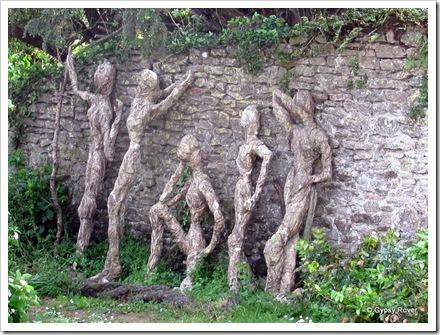 Tree carvings in Axbridge, Somerset.