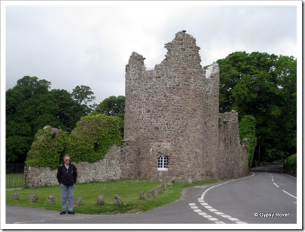 Oxwich Tower looks derelict but has in fact been restored as a cottage.