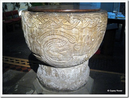 Brecon Cathedral 's 900 year old font.