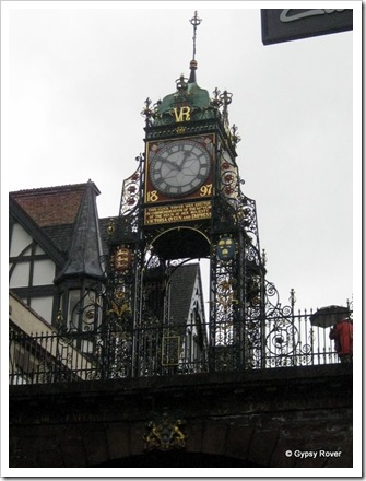 Chester's famous Victorian clock tower on the city walls.