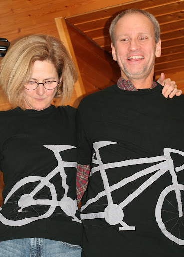 finished tandem bike t-shirt applique