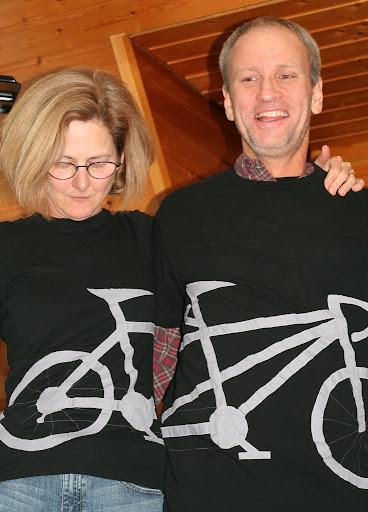 finished tandem bike t-shirt applique