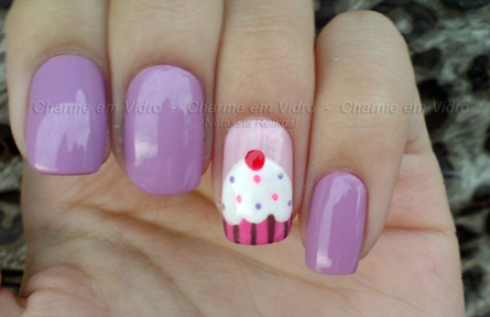 Unhas Cupcake