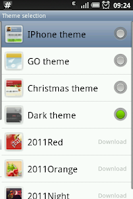 Many ready made themes are available, and you can also customize parts of them in the Appearance settings