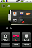 The Thrutu drawer during a call with all the available actions