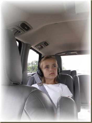 Emily in car