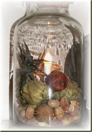 Pineapple in light jar