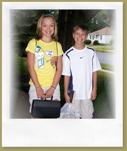 Emily and Joe first day of school